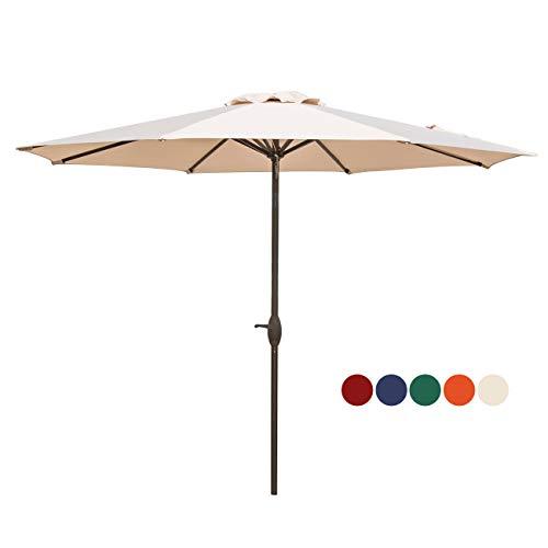 VEGOND-Patio-Umbrella-9FT-Table-Umbrella-Outdoor-Market-Umbrella-with-Tilt-Adjustment-and-Crank-Lift-System-Beige