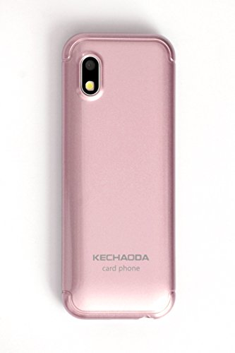 Kechaoda K33 Slim Card Size Light Weight and Stylish Dual Sim GSM Mobile Phone (Rose Gold) 3