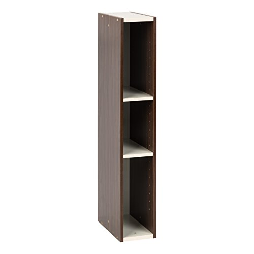 IRIS USA, UB-9015, Slim Space Saving Shelf with Adjustable Shelves, 6 x 34', Walnut Brown, 1 Pack