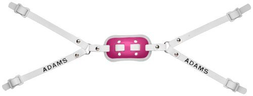 Adams USA GEL-100-4D 4-Point High Football Chin Strap with D-Rings, Pink