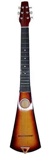 Acoustic Steel String Backpacker Travel Guitar with Bag and Strap (Sunburst)