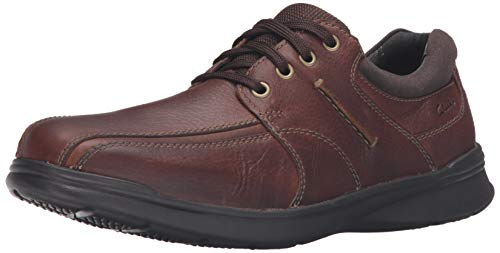 CLARKS Men's Cotrell Walk Oxford, Tobacco, 7 D - Medium