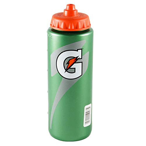 Gatorade Leakproof Green Orange Sport Squeeze Water Bottle 20 Oz