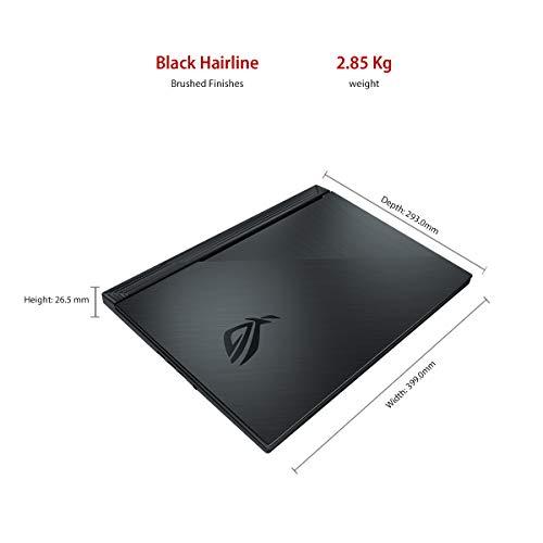 "ASUS ROG Strix G G731GT-H7158T 17.3"" FHD 120Hz Gaming Laptop GTX 1650 4GB Graphics (Core i7-9750H 9th Gen/16GB RAM/1TB NVMe SSD/Windows 10/One-Zone RGB KB/2.85 Kg), Black 6"