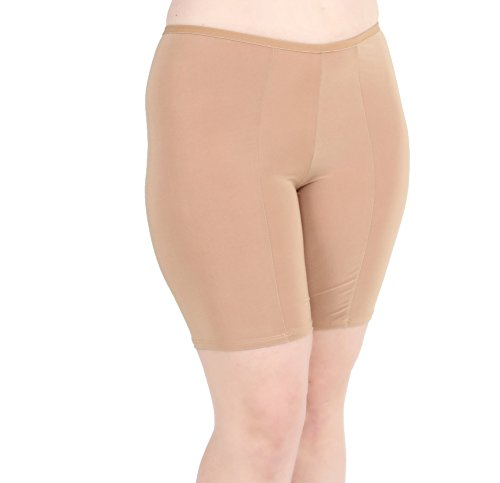 Undersummers Women's Ultrasoft Classic Slip Shorts: Prevent Thigh Chafing with Stay-Put Mid-Thigh Length (S-4X)