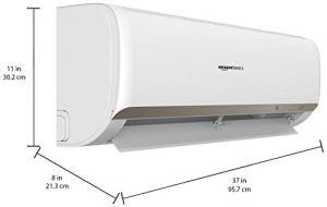 AmazonBasics 1.5 Ton 3 Star Inverter Split AC with High Density filter (Copper Condenser, White)