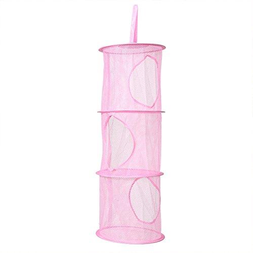 Mesh Hanging Toy Storage Basket Closet Organizer