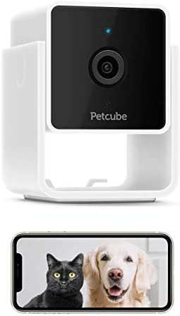 Petcube [New 2020] Cam Pet Monitoring Camera with Built-in Vet Chat for Cats & Dogs, Security Camera with 1080p HD Video, Night Vision, Two-Way Audio, Magnet Mounting for Entire Home Surveillance