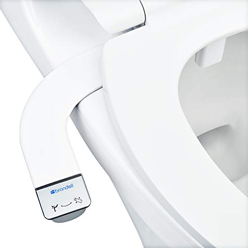 Brondell-Bidet-Thinline-SimpleSpa-SS-150-Fresh-Water-Spray-Non-Electric-Bidet-Toilet-Attachment-in-White-with-Self-Cleaning-Nozzle