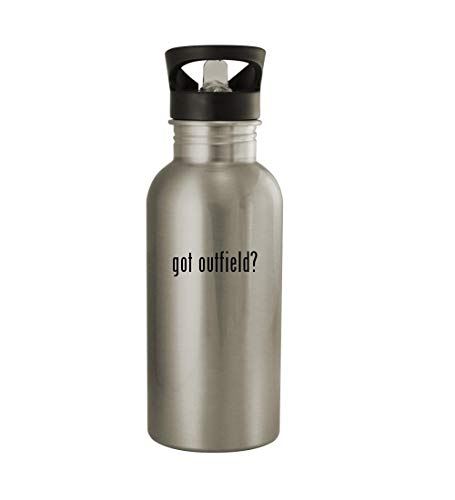 Knick Knack Gifts got Outfield? - 20oz Sturdy Stainless Steel Water Bottle, Silver