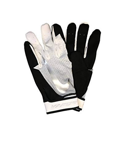 Nike Mens Wapor Elite Batting Glove Black-Wht-Silver XL
