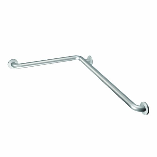 Moen 8994 24-Inch x 36-Inch L-Shaped Bathroom Grab Bar, Peened