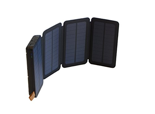 SunJack 5W Solar Charger Power Bank External Battery with Flashlight for iPhone, iPad, Samsung, Backpacking, Camping, Hiking