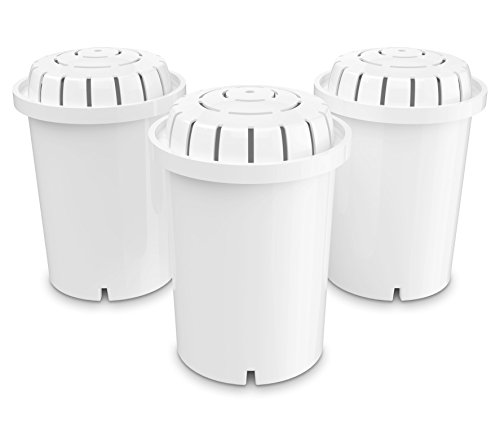 PH001 Alkaline Water Filter – Replacement Water Filter By Invigorated Water – Ionized Water Filter Cartridge - For Invigorated Living Pitcher, Ionizer, Purifier, 96 Gallon Capacity (3 pack)