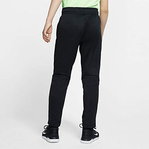 Nike Kids Boy's Therma Open Hem Pants (Big Kids) Black/Grey 2
