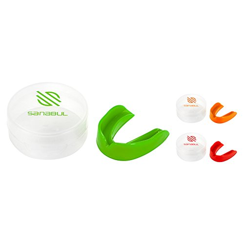 Sanabul Single Boil and Bite BJJ MMA Boxing Mouth Guard (Orange, Adult)