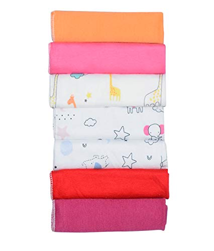 31OeZUfhbpL Billy Bum Washcloth for New Born 100% Hosiery Cotton/Reusable Further Tender Face Towels washcloth for Infants (7 items) Shade might range (Pack of 1)