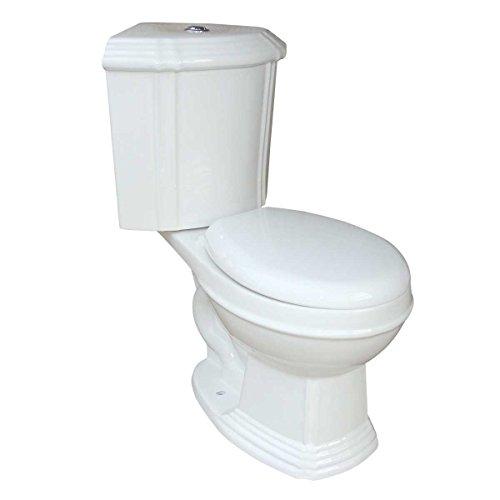 White Ceramic Round Space Saving Dual Flush