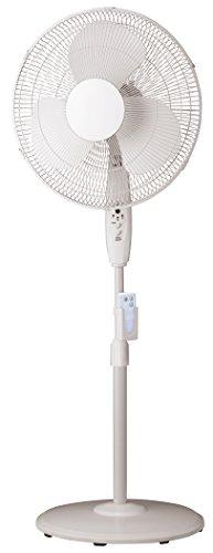 PELONIS FS40-8JR 16' White 3-Speed Oscillating Pedestal Fan W/Remote,