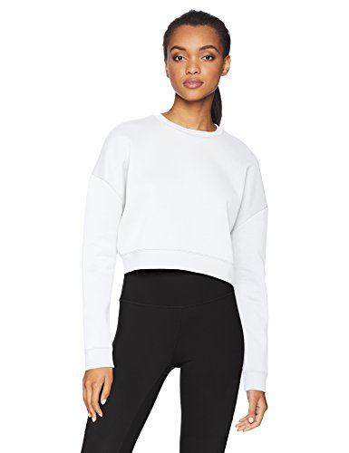 71E Vjj30oL A contemporary take on the classic sweatshirt, this cropped long sleeve crew neck was built for the gym and your active lifestyle Motion Tech Fleece is the perfect blend of cotton and polyester for lightweight warmth and comfort Slim fit provides a close feel that moves with you