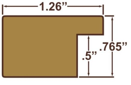 Craig-Frames-FM26DKW-16-by-22-Inch-Picture-Frame-Smooth-Wrap-Finish-126-Inch-Wide-Dark-Brown