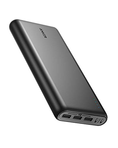 Anker PowerCore 26800 Portable Charger, 26800mAh with Dual Input Port and Double-Speed Recharging, 3 USB Ports for iPhone, Samsung Galaxy, Android and Other Smart Devices (Renewed)