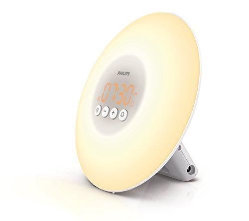 Philips Wake-Up Light Alarm Clock with Sunrise Simulation, White (HF3500/60)