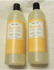 Trader Joe's Refresh Citrus Body Wash with Vitamin C - Cruelty Free (Two 16 Fl Oz Bottles)