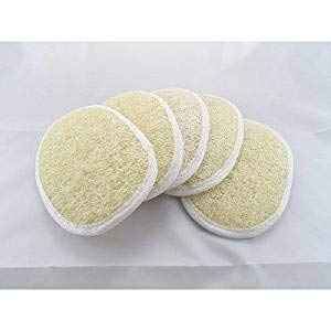 BEAUTRISTRO Set Of 4 Natural Loofah For Women Bath Sponge Oval Loofah For Men And Women Loofah For Bathing Bath Sponge For Bathing Bath Scrub Brush