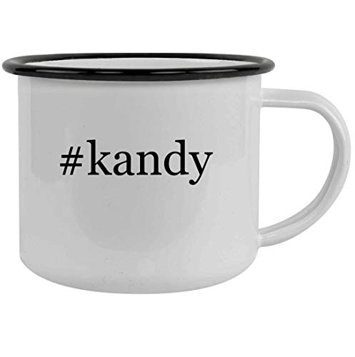 #kandy - 12oz Hashtag Stainless Steel Camping Mug, Black