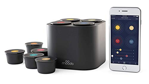 Moodo-Smart-Home-Fragrance-Diffuser-Bundle-with-1-Scent-Capsules-Sets-Junior-Pack-scent-personalization-Alexa-Compatible-includes-4-Scent-Pod-Refils-Black-Moodo-Junior-Pack-3