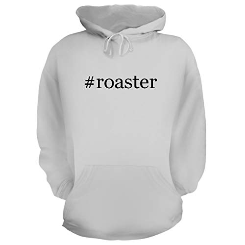 BH Cool Designs #Roaster - Graphic Hoodie Sweatshirt, White, Small