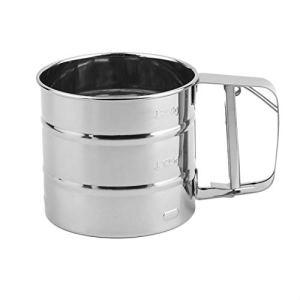 Handheld Baking Cake Tool Stainless Steel Mechanical Baking Icing Sugar Shaker Sieve Cup Mesh Powder Flour Sieve Accessory 31S 2BcxjhYBL