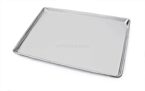 New Star Foodservice 36923 Commercial-Grade 18-Gauge Aluminum Sheet Pan/Bun Pan, 18' L x 26' W x 1' H (Full Size) | Measure Oven (Recommended)