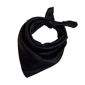 23″ Women's Classic Fashion Solid Color Silk Feel Square Scarf Neck Accessories
