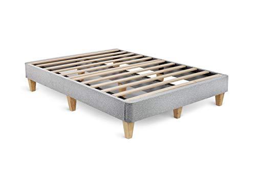 Leesa 172040011 Queen Platform Bed Mattress Foundation, Gray
