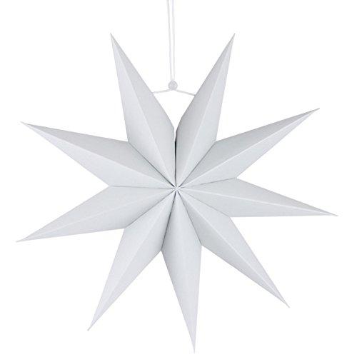 shuohu 30.5cm color sólido recorte estrella de papel farol, nine-pointed Star colgante...