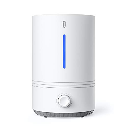 TaoTronics Top Fill  humidifiers for Bedroom Nursery [BPA Free], Ultrasonic Cool Mist Humidifier for Home, Easy to Clean, 17-36 Hours, Auto Shut Off, Blue Mood Light-(4.3L/1.1 Gallon, US 110V)