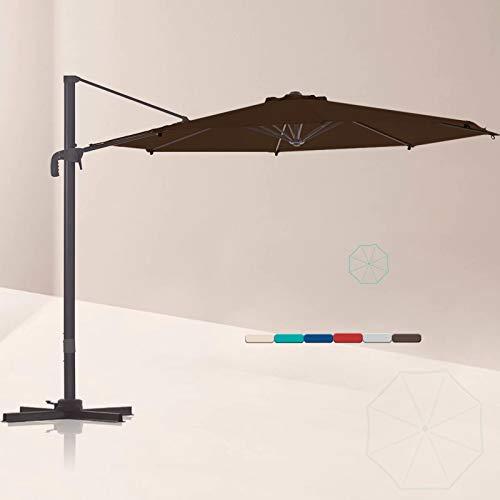 Outdoor Aluminum Offset Patio Umbrella, 10 Ft Cantilever Patio Umbrella