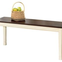 Signature Design by Ashley Whitesburg Dining Room Bench, Brown/Cottage White