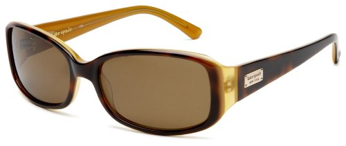 Kate Spade Women's Paxton/S Rectangular Sunglasses,Saffron Tortoise Frame/Brown Polarized Lens,one size