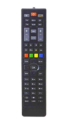 Universal DTH Set Top Box Remote, with Recording Feature for All Dish TV SD/HD Set Top Box 93