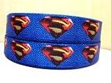 """5 yards 1"""" Superman Grosgrain Ribbon"""