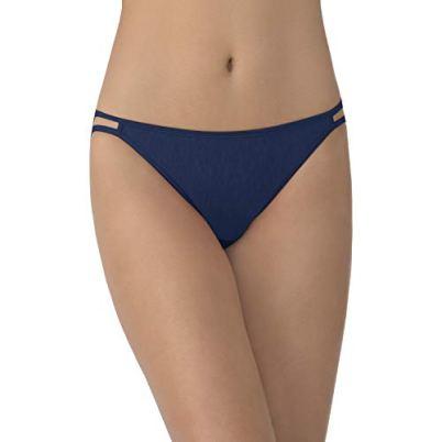Vanity Fair Women's My Favorite Pants Illumination String Bikini, Admiral Navy, Size 5