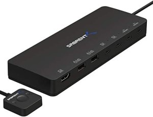 Sabrent 2-Port USB Type-C KVM Switch with 60 Watt Power Delivery Option (USB-KCPD)