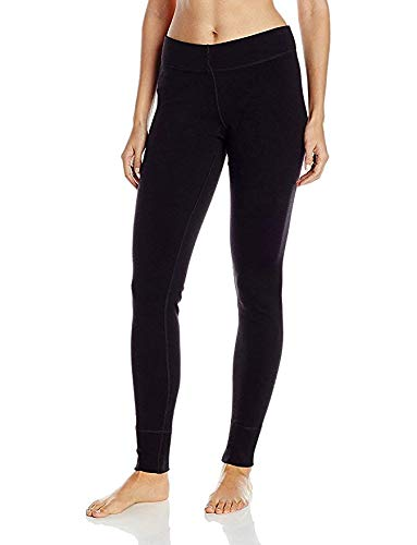 Woolx Womens Avery Midweight Merino Wool Base Layer Leggings For Warmth, Black, XX-Large