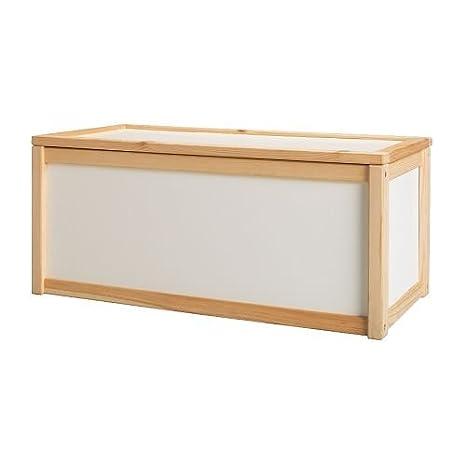 Ikea Apa Coffre à Jouets En Pin Avec Couvercle Amovible 70 X