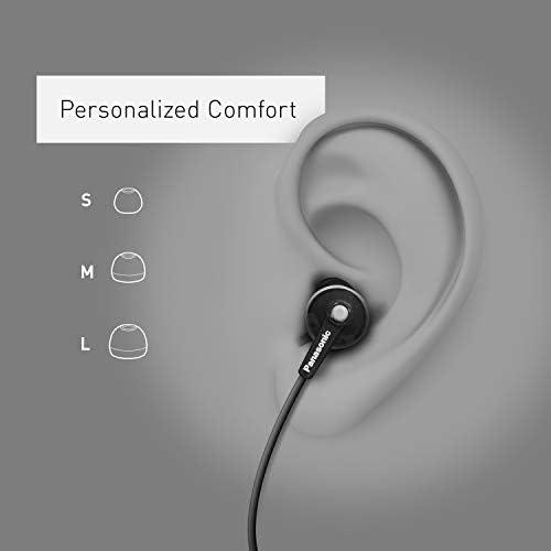 Panasonic ErgoFit In-Ear Earbud Headphones RP-HJE120K Dynamic Crystal-Clear Sound, Ergonomic Comfort-Fit, 9mm, Black 14