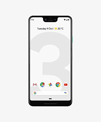 Google Pixel 3 XL (2018) G013C 128GB - 6.3' inch - Android 9 Pie - (GSM Only, No CDMA) Factory Unlocked 4G/LTE Smartphone - International Version (Clearly White)