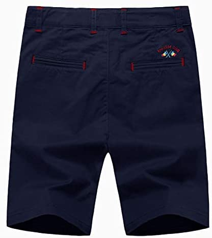 KID1234 Boys Shorts - Flat Front Shorts with Adjustable Waist,Chino Shorts for Boys 5-14 Years,6 Colors to Choose 2